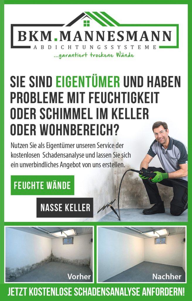 Kostenlose Schadensanalyse bei der BKM Mannesmann AG.